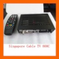 Free shipping DVB 800hd-c 800c 800hd cable set top box DVB-C for singapore,In stock