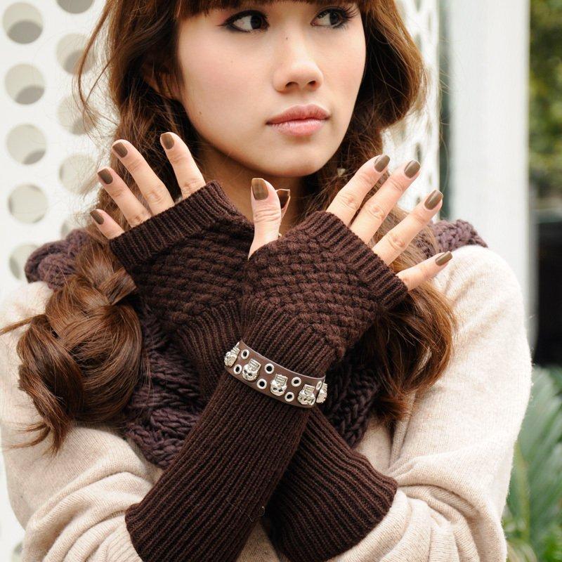Женские перчатки Cross cross bracelet 2011 autumn and winter knitted long gloves women's lucy refers to semi-finger yarn gloves -qk