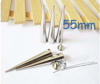 55mm Leather spike DIY pointed nail Rivet free shipping