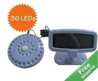 Solar infrared security sensor light+100% solar power+36LEDs+Free shipping