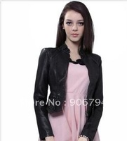 In 2012 the new spring clothing slave han edition motorcycle short paragraph small leather jacket women's coat