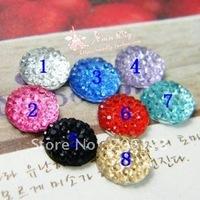 Wholesale DIY Jewelry Garment / phone case Accessories 8mm resin lmitation diamond flatback Rhinestones 500PCS free shippment