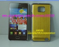 Free Shipping by DHL or EMS Perfect design High Quality Shiny CD Grain Aluminum Skin Hard Cover Case for  I9100 Galaxy SII S2