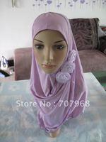 Muslim headscarves three flowers set of cap