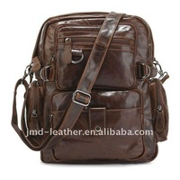 Cowboy Vintage Leather Men's Espresso Travel Backpack Bookbag Schoolbag Hiking Messenger Bag FREE SHIP #7042Q