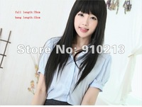 Free shipping Factory Outlet Price,  Synthetic Straight Black Wigs/hairpiece ,HH-004 Women's Fashion Wig