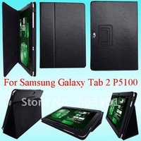 "Free shipping for samsung galaxy tab 2 10.1"" P5100 case, PU leather cover for Samsung P5100, for Galaxy tab 2 P5100 stand"