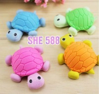 Free Shipping~Removable animal cartoon turtle eraser / student gifts Japan and South Korea stationery wholesale