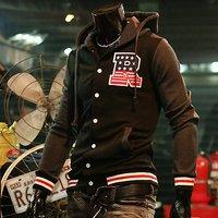 Men's Baseball Jacket Hoody Sweatshirt  Fashion Outerwear Man Casual Coat Stylish Man Clothes Men's Hoodies