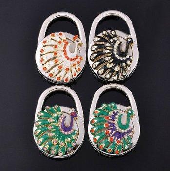 Free Shipping!20pcs/lot 2012 new bag hook Round foldable Bag Hanger/Purse Hook/Handbag Holder     HK-502