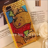Чехол для для мобильных телефонов Rhinestone i008 Luxury Sparkling white Crystal case 2013 hot for apple iPhone 4 4S 4g Mobile Phone Cover mens new