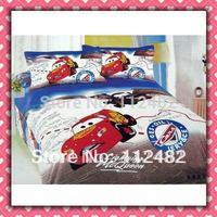 4pcs Bedding Set 100% Cotton Cars Printing Bedding Set Kid Children's Free Shipping