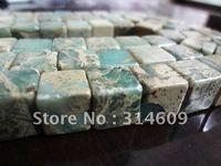 Wholesale Free shipping 12*12mm Square serpentinite Jewelry Gemstone Beads Natural semi-precious stone 33pc