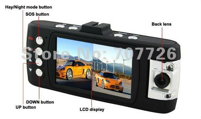 "2012 London Olympics X6 Dual Lens H.264 1080p Vehicle Night Vision Car DVR w/8-IR LEDs/2.7"" LCD 16:9/SOS/HDMI/AV Out(China (Mainland))"