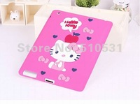 Fashion lovely Cartoon silicone case back cover for iPad 2/3/4,retail and whole