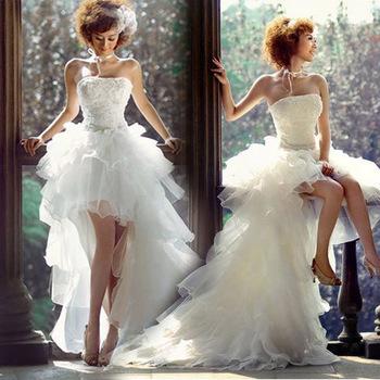 Новое поступление женщин Fashinable короткие спереди с задней свадебное платье