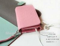 1PC New Arrival Korea ardium wallet case for iphone 4 4S 3GS,mobile phone card holder wallets,Free shipping