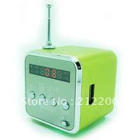 DHL,*30pcs* TD-V26 Portable  Mini Digital Speaker for MP3 MP4 PC,Support  Radio, USB, TF/SD Card,Free Shipping,Wholesale