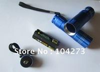 Mini portable aluminium LED flashlight use 3*AAA battery up to 10 hours lasting time