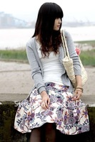 Free Shipping-----Pure Linen Bandanna Printed Skirt in Chinese Ethnic style to show the hottest Trend