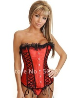 Одежда и Аксессуары white red S~XXXL Sexy floral print corset lingerie with garter belt Women bridal wedding corset shaper MZ2005