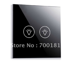 AC110V-240V, Electronic Switch& Wall Switch 2 Way with LED Indicator, CE Approval, Smart House Decoration,Free Shipping(China (Mainland))