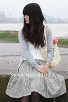 Free Shipping----- Linen coreopsis Printed Skirt in Chinese Ethnic style to show the hottest Trend