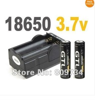 FREE SHIPPING!2x 18650 3.7v 3000mAh Rechargeable Battery +Smart Charger For LED Torch