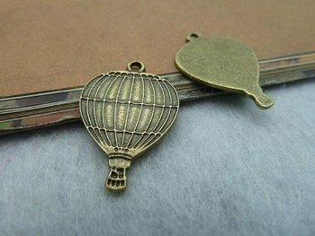 30pcs 17x25mm Antique Bronze Lovely Hot Air Balloon Charm Pendant c2201