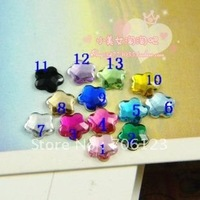Wholesale DIY Garment / phone / bags / shoes Accessories 6mm Plum Blossom Acrylic diamond flatback Rhinestones beads 1800pcs