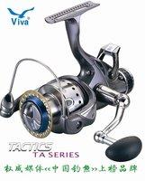 Free shipping, TA Series TA3500 Spinning Fishing Reel 9+1BB, fishing Carp Reel,Double unloading force