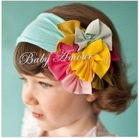 TOP BABY Baby petite Victorian headband clip girls hair ornaments babys flower bands 0608
