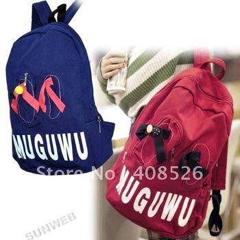 2014 New Style Korea Women's Bag Canvas Backpack Handbags Shoulder Bag Student Packbag free shipping 5379