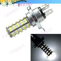 Hot selling!68 LED SMD 3528 H4 Bulb Car Fog Light Headlight Lamp 310LM 12V 6500K,Free shippping! 2769
