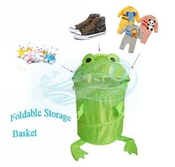 Animals Frog Pop Up Storage Clothes Laundry Foldable Hamper Storage Basket(China (Mainland))