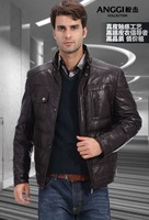 Free shipping 2012 new men's  100% Sheep skin Haining leather jacket  , men winter jacket coat ,885