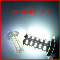 White H7 68SMD 1210/3528 Car LED Bulb Fog Lamp light Free Shipping