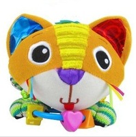 Hot sale super cute - lovely color cat rattle baby carriage bed hanging soothing plush toys