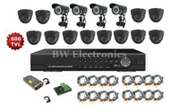 16CH DVR SYSTEM 16CH DVR KITS: 16CH D1 DVR+4 *WATERPROOF CAMERA+12* IR DOME+ POWER BOX+ 16* CABLES+ 1T SEAGATE HDD, FREESHIPPING