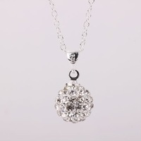 Fashion Jewelry Shamballa Necklace New Tresor Paris Allure CZ Disco Ball Bead SBP012 T H 345
