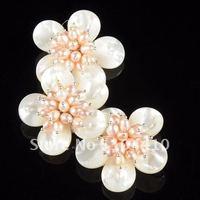 Free Shipping! Fashion Beautiful Women's Handmade Wire MOP Shell Pearl Flower Shape Jewelry Necklaces Pendants Beads Wholesale