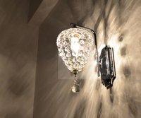[Dec]Modern Crystal Wall Lamp Light Sconce Lighting Chrome Finish pendant lighting