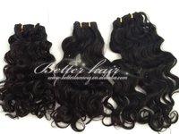 Wholesale a set Mongolian hair weaving 100% human hair