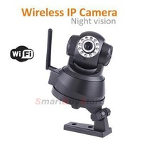 Black Wireless IP Webcam HD Network Camera Night Vision 11 LED WIFI Camera with retail box,Free Shipping
