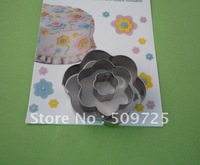 New 3PCS/SET Flower Shape Cookie Cutter Biscuit Mold Cake Decoration1108#