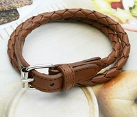 New Fashion Weaved Leather Double Wrap Belt Buckle Bracelet star jewelry Retail & Wholesale 3pcs/lot