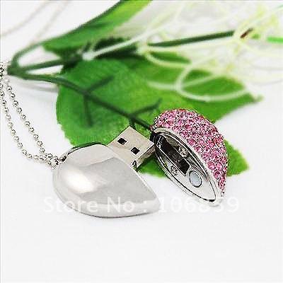 Wholesale 1GB 2GB 4GB 8GB 16GB Heart USB Stick Free Shipping(China (Mainland))