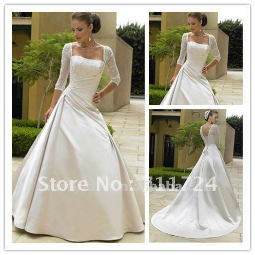 Corset Dress on Corset Lace 3 4 Sleeve Wedding Dress Picture In Wedding Dresses From