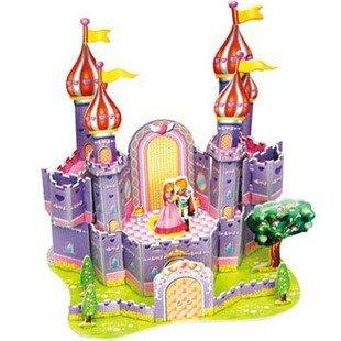 Children Puzzle 3D puzzle -Purple Castle