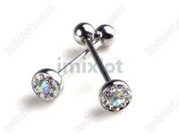 Wholesale 5pcs Body Piercing bar Ball Tongue Rings New [BB38C*5]